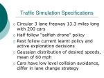 traffic simulation specifications