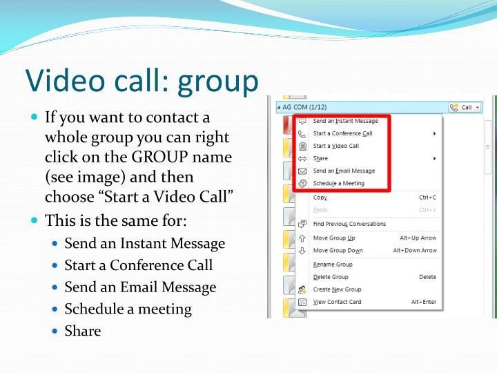 Video call: group