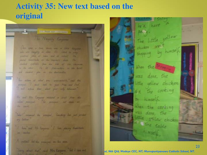 Activity 35: New text based on the original