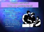 health services tips on getting hired1