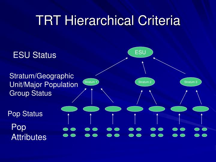 Trt hierarchical criteria