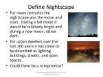 define nightscape