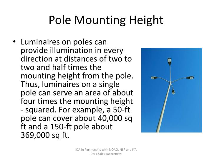Pole Mounting Height
