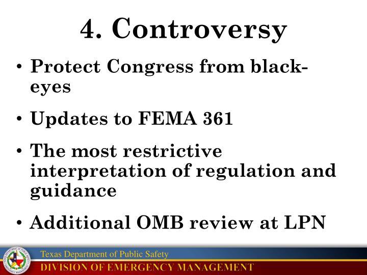 4. Controversy