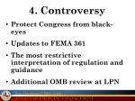 4 controversy