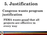 5 justification