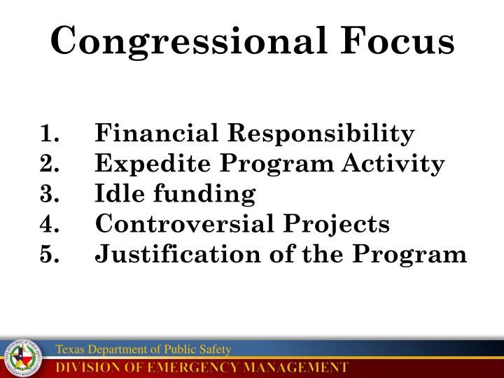 Congressional Focus