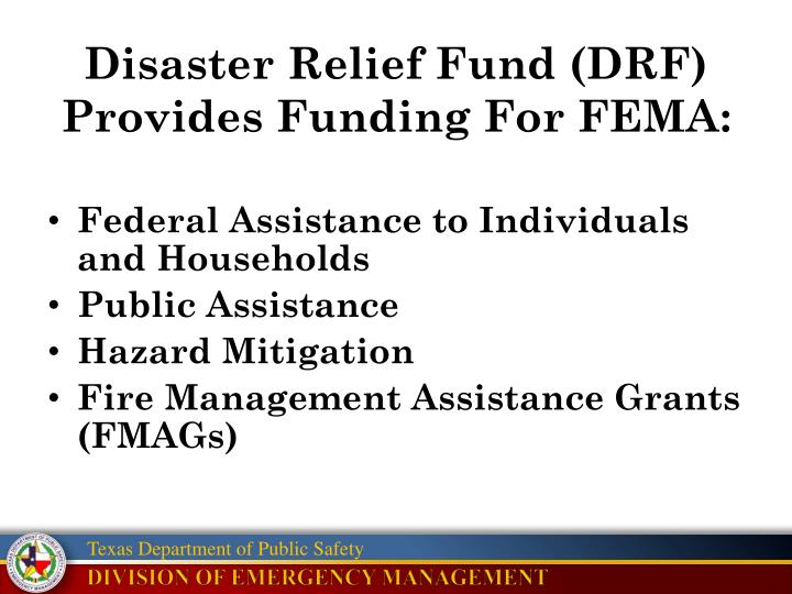 Disaster Relief Fund (DRF)