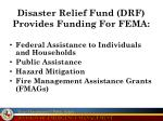 disaster relief fund drf provides funding for fema
