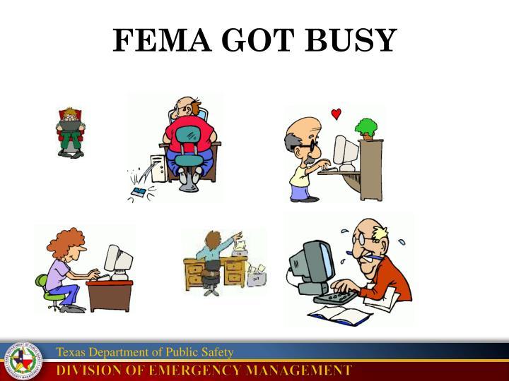 FEMA GOT BUSY