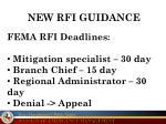 new rfi guidance
