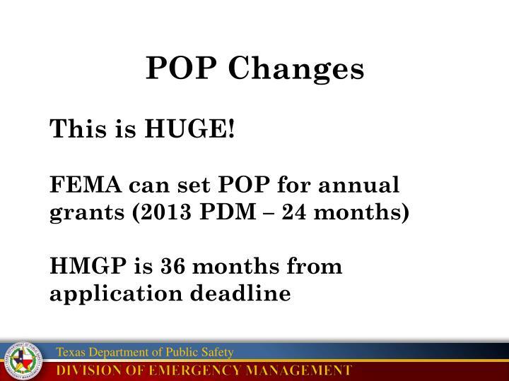 POP Changes