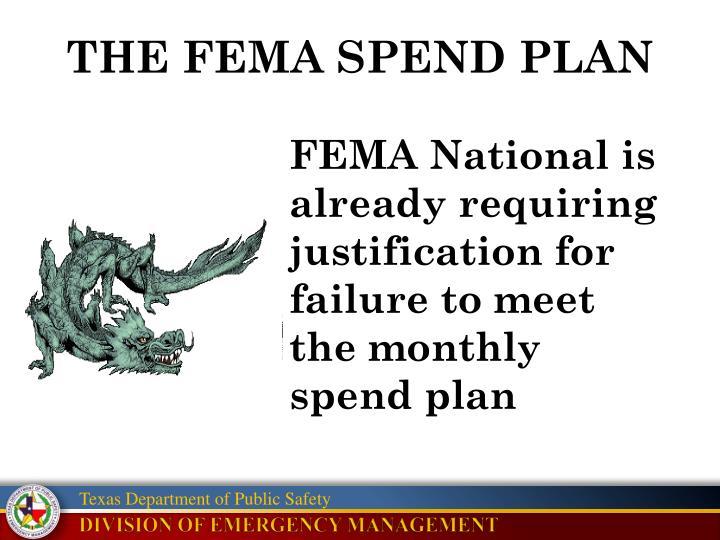 THE FEMA SPEND PLAN