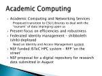 academic computing