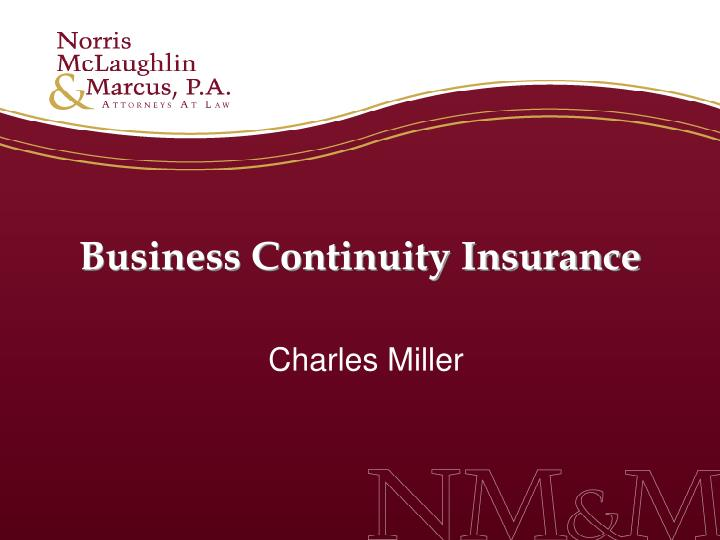 Business Continuity Insurance