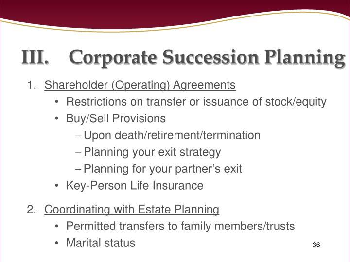 Corporate Succession Planning