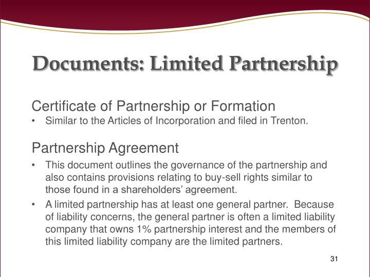 Documents: Limited Partnership