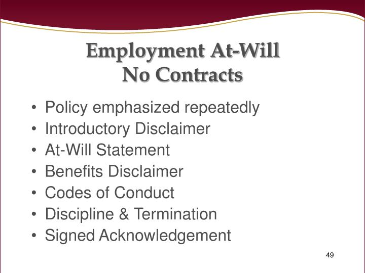 Employment At-Will