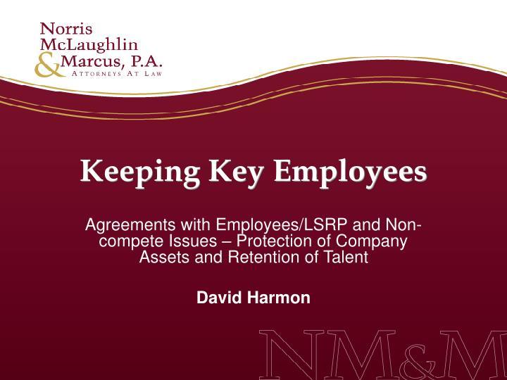 Keeping Key Employees