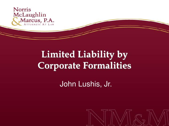 Limited Liability by