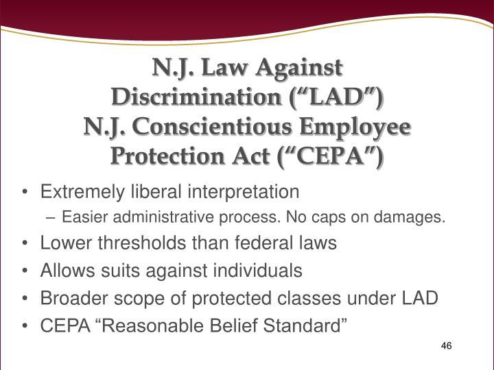 N.J. Law Against