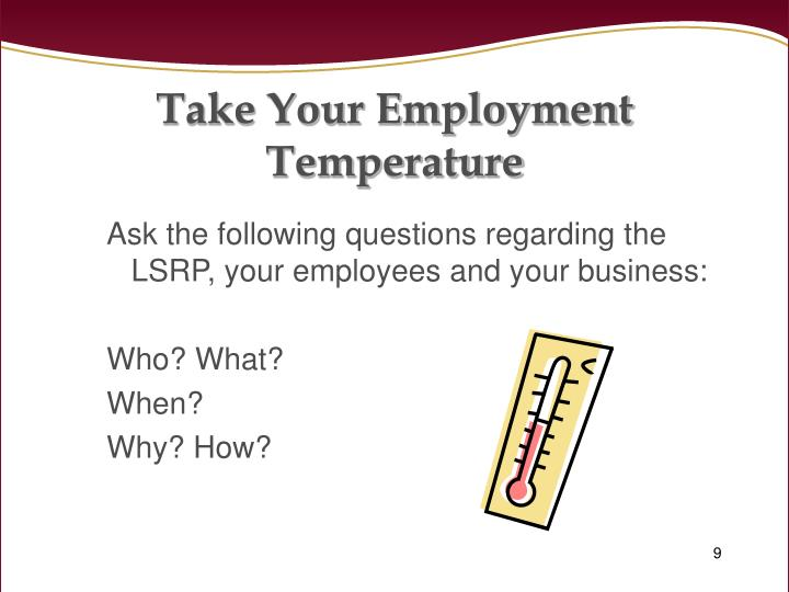 Take Your Employment Temperature