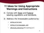 11 ideas for using appropriate warnings and instructions1