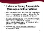 11 ideas for using appropriate warnings and instructions2