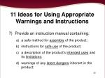 11 ideas for using appropriate warnings and instructions3