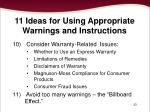 11 ideas for using appropriate warnings and instructions6