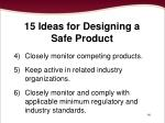 15 ideas for designing a safe product