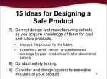 15 ideas for designing a safe product1