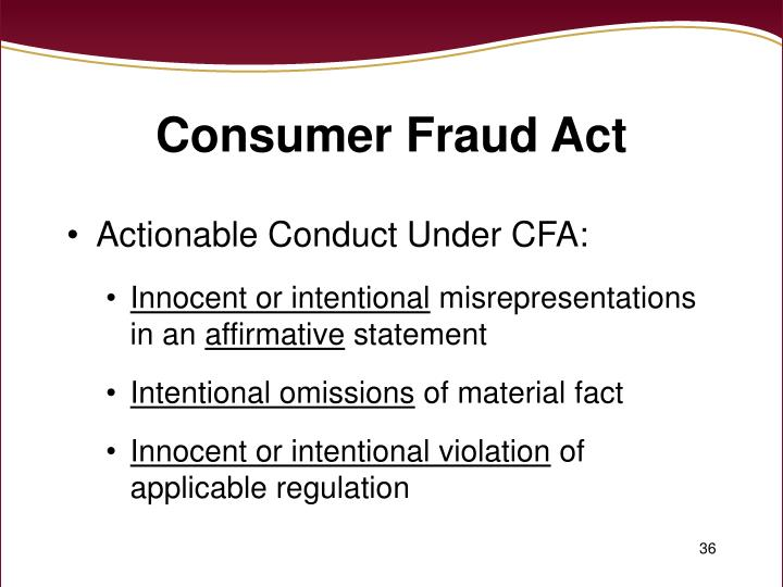 Consumer Fraud Act