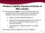 product liability causes of action in new jersey