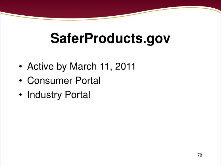 SaferProducts.gov