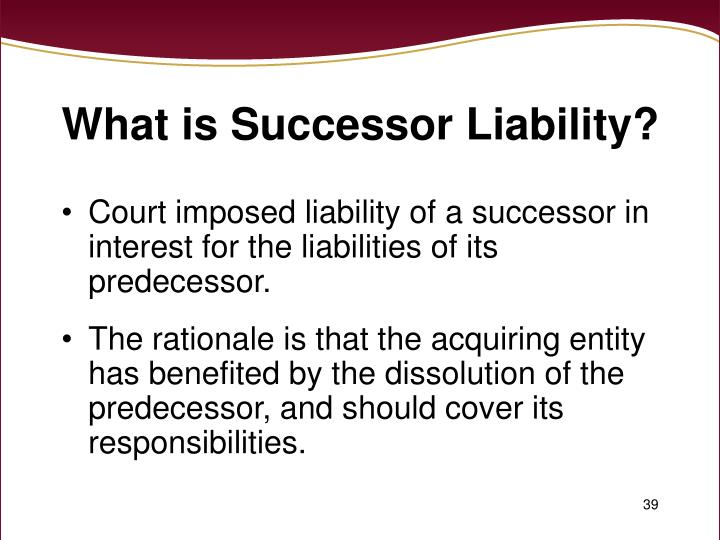 What is Successor Liability?