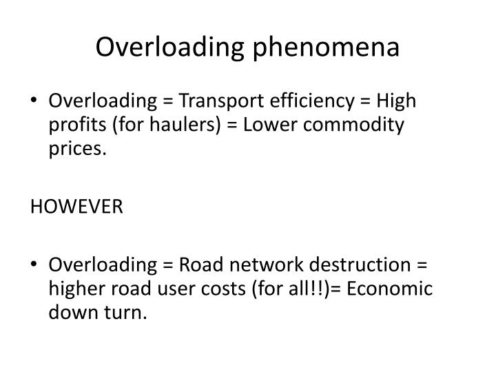 Overloading phenomena