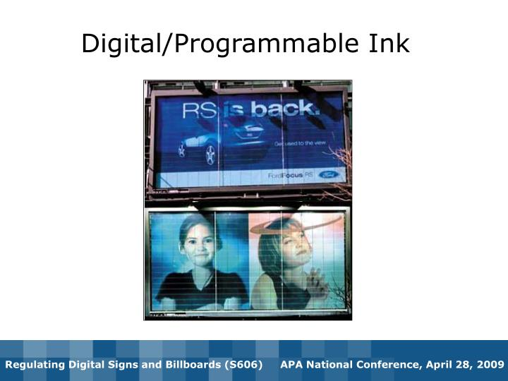 Digital/Programmable Ink
