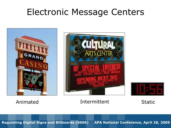 Electronic Message Centers