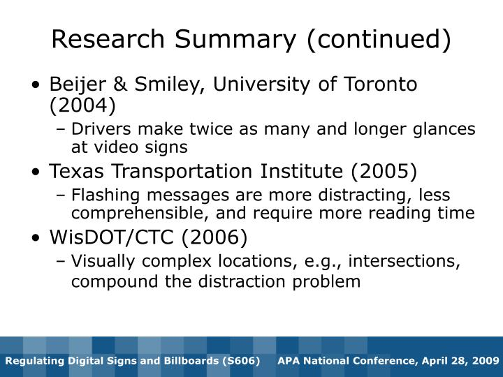 Beijer & Smiley, University of Toronto (2004)