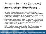research summary continued1
