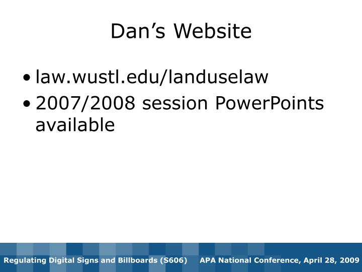 Dan's Website