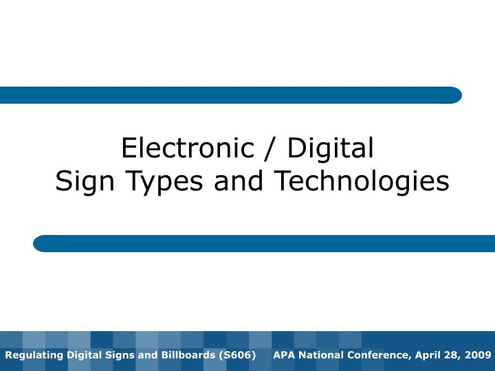 Electronic / Digital