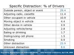 specific distraction of drivers