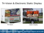 tri vision electronic static display