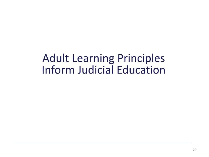 Adult Learning Principles