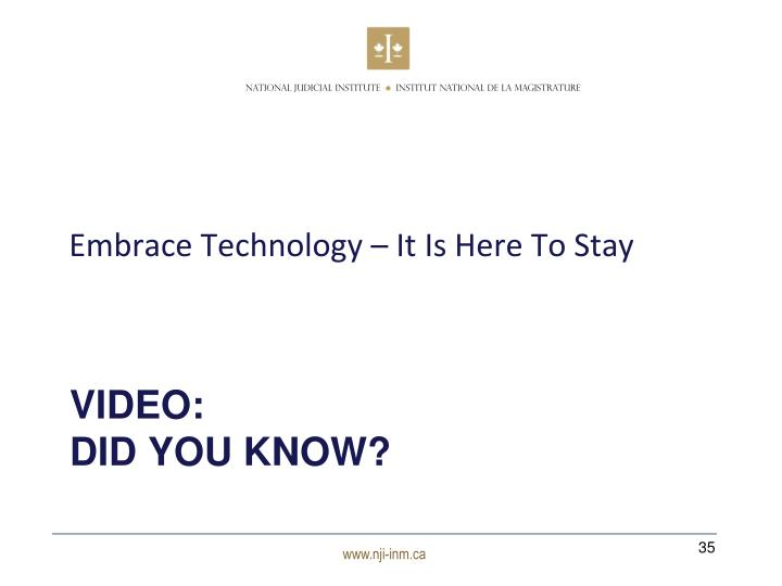 Embrace Technology – It Is Here To Stay