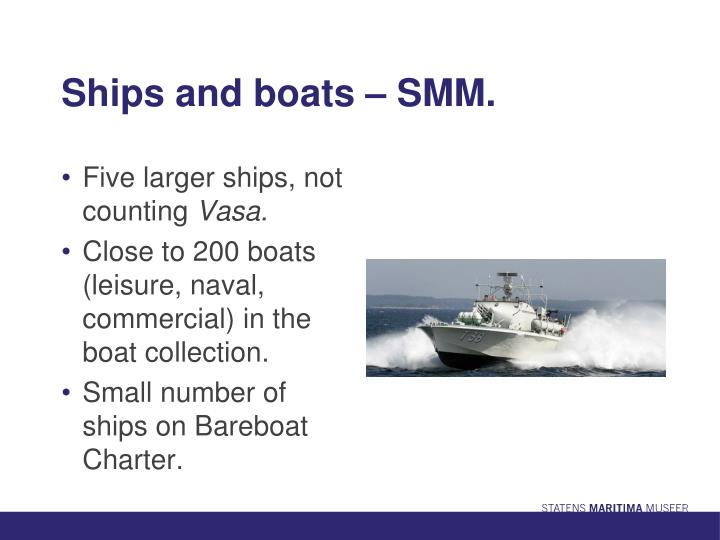 Ships and boats – SMM.