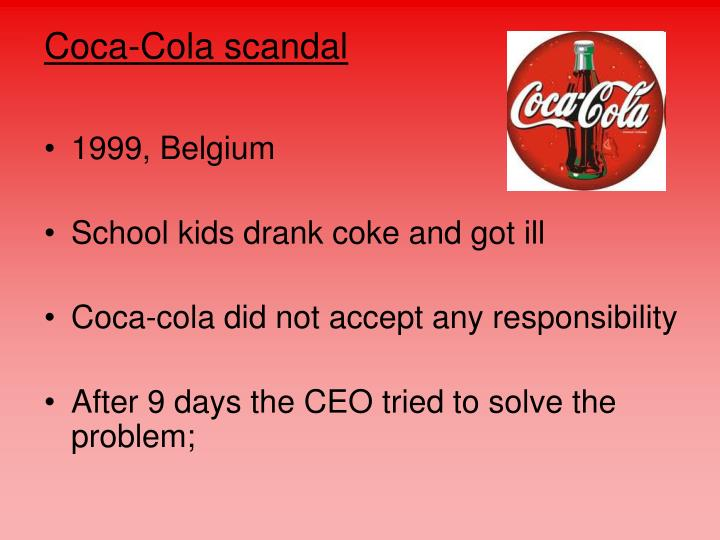 Coca-Cola scandal