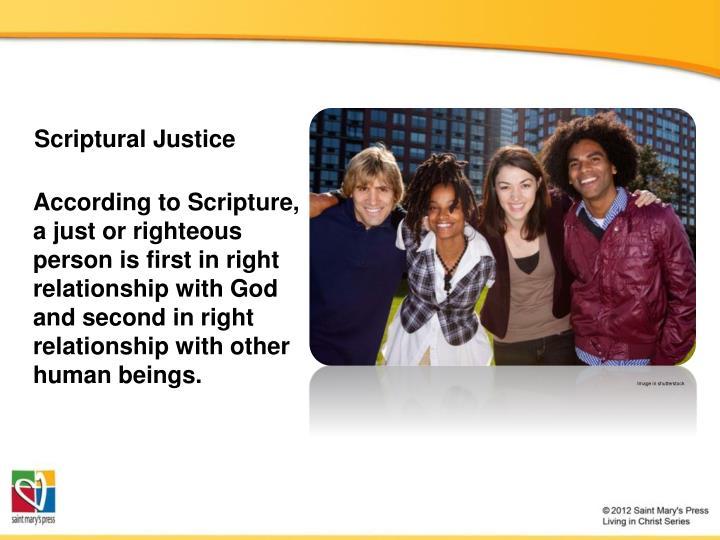Scriptural Justice